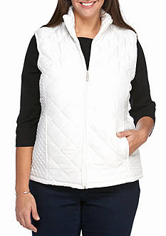 Jane Ashley Plus Size Quilted Vest
