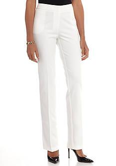 Sharagano Short Length Winter White Kent Pant