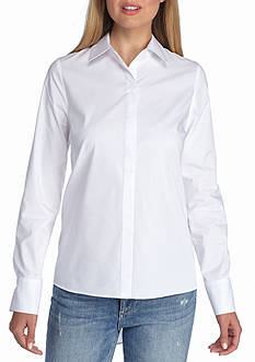 Sharagano Pleated Back Button Front Shirt