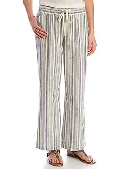 Sharagano Striped Linen Pants