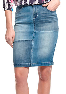 Vintage America Blues Judy Patch Denim Skirt