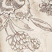 Tan/khaki Womens Tops: Lt Incense Combo Vintage America Blues Oak Print Roll Tab Sleeve Top