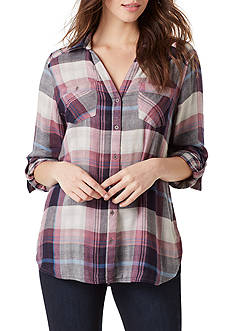 Vintage America Blues Ava Double Cloth Plaid Shirt