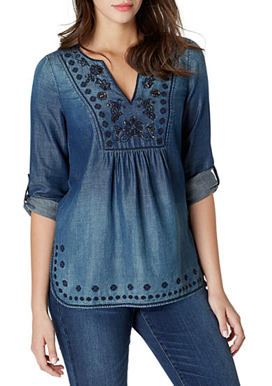 Vintage America Blues Anita Embroidered Tunic