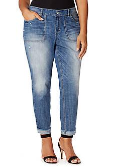 Vintage America Blues Plus Size Boyfriend Jeans