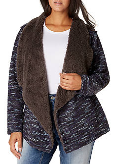 Vintage America Blues Plus Size Sherpa Cozy Sweater