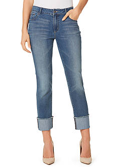 Vintage America Blues Savannah Ankle Wide Cuff with Frayed Hem Jeans