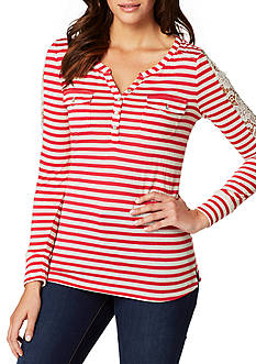 Vintage America Blues Isabella Striped Henley