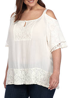 Vintage America Blues Plus Size Harmony Off The Shoulder Top