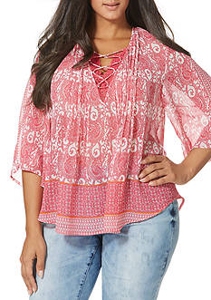Vintage America Blues Plus Size Beverly Loose Fitting Top