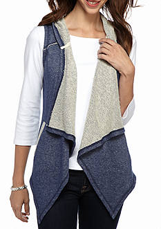 Ruby Rd Rhythm and Blues Cascade Collar Vest