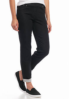 Ruby Rd Well Traveled Pull On French Terry Denim Pants