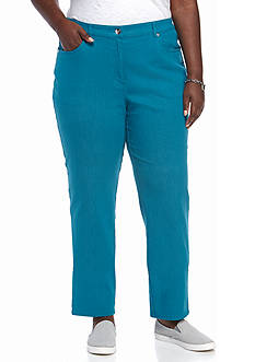 Ruby Rd Colored Denim Avenue Pants