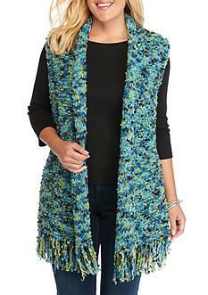 Ruby Rd Plus Size Gypsy Caravan Pom Sweater Vest