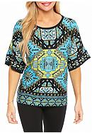 Ruby Rd Petite Well Traveled Escalante Kimono