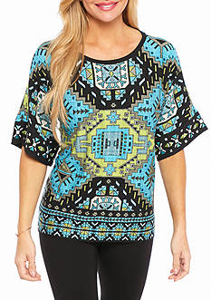 Ruby Rd Petite Well Traveled Escalante Kimono Knit Top