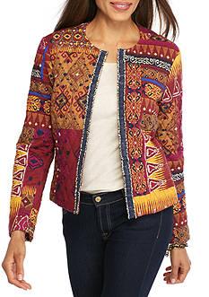 Ruby Rd Nouveau Boho Patchwork Quilt Jacket