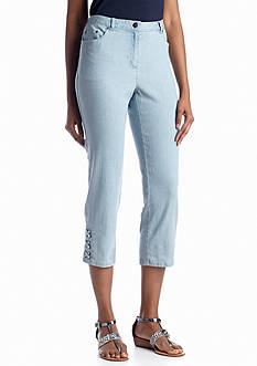 Ruby Rd Key Items Stretch Jean Capri