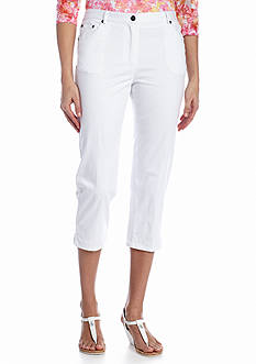 Ruby Rd Key Items Twill Side Slit Capri Pant