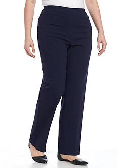 Ruby Rd Plus Size Air Pull-On Tech Stretch Pant (Short Length)