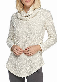 Ruby Rd Neutral Territory Cowl Neck Pullover
