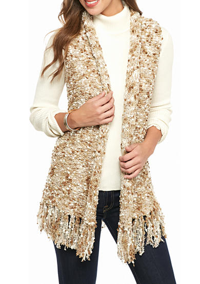 Ruby Rd Neutral Territory Pompom Boucle Sweater Vest