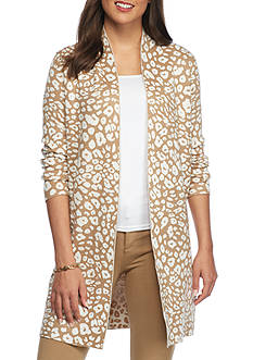 Ruby Rd Neutral Territory Jacquard Duster Sweater