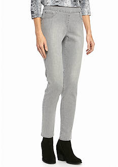 Ruby Rd Gray Pull On Stretch Denim Jeans
