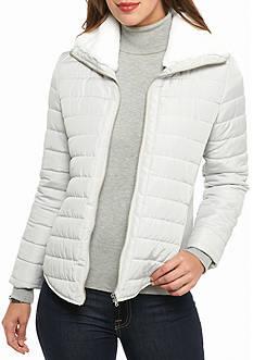 Ruby Rd Gray Poplin Jacket