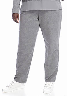 Ruby Rd Amazing Gray Pull on French Terry Pants