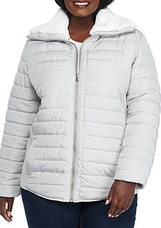Ruby Rd Plus Size Amazing Gray Quilted Jacket