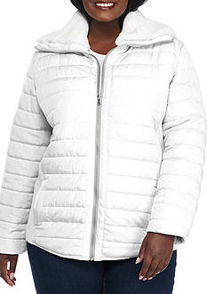 Ruby Rd Plus Size Amazing Grey Quilted Jacket