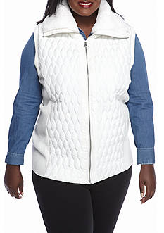 Ruby Rd Plus Size Cozy Up Quilt Vest