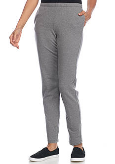 Ruby Rd Gray Pull On French Terry Pant