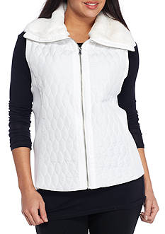 Ruby Rd Amazing Grey Quilted Vest
