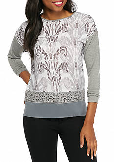 Ruby Rd Amazing Grey Baroque Knit