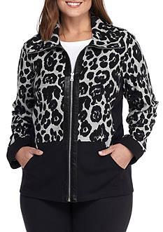 Ruby Rd Plus Leopard Jacket