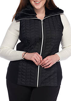 Ruby Rd Plus Size Quilted Vest