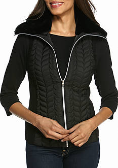 Ruby Rd Petite Mix It Up Quilted Vest