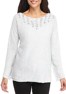 Ruby Rd Cozy Up Metallic Eyelash Sweater