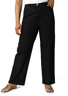 Ruby Rd Plus Size Key Item Collection Stretch Denim Pants