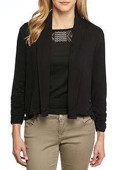 Ruby Rd Modern Knit Shawl Collar Cardigan