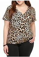 Ruby Rd Plus Size Must Haves Animal Printed Top