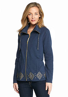 Ruby Rd Free Spirit High Low Terry Jacket
