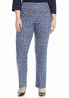 Ruby Rd Plus Size On the Fringe Printed Stretch Denim