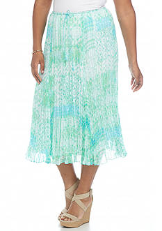 Ruby Rd Plus Size Oasis Broomstick Skirt