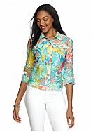 Ruby Rd Key Items Tropical Burnout Jacket