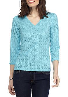 Ruby Rd Ti Amo Surplus Shadow Lace Knit