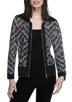Ruby Rd Bold Move Sheer Stripe Jacket