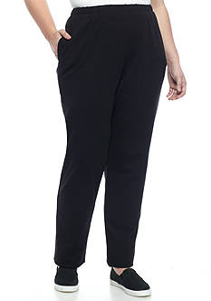 Ruby Rd Plus Bold Move Pull On Stretch French Terry Pants